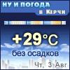 Погода в Керчи - Поминутный прогноз погоды
